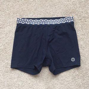 Tory Burch sport navy shorts sz sm